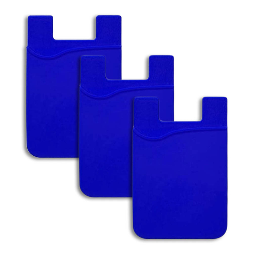 Cell Phone Stick-On Card Wallet, 3-Pack