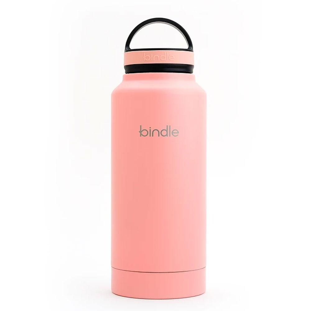 Bindle® Stainless Water Bottle with Built-In Storage, Coral