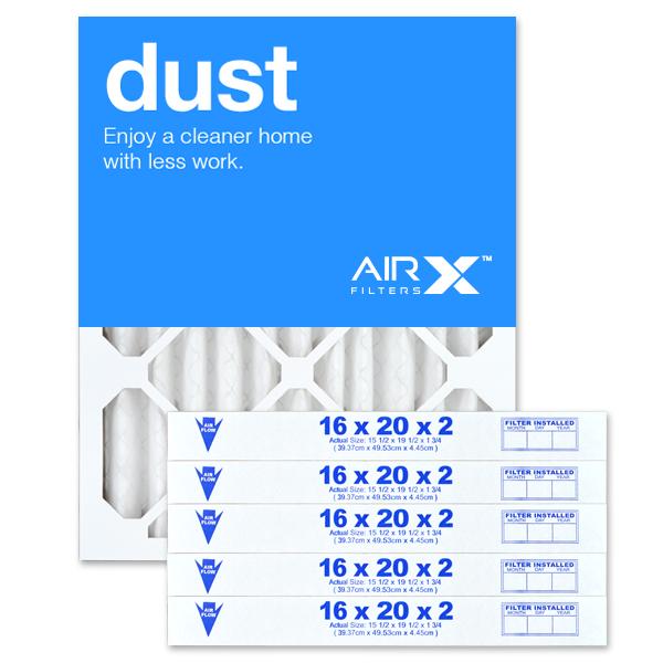 Airx 16x20x2 Dust Refrigerator Water Filters