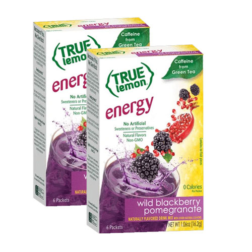 True Lemon Energy  Blackberry Pomegranate Flavor Packet, 2-Pack