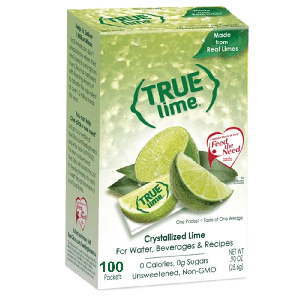 True Lime Water Flavoring Packet - Box of 100 product image