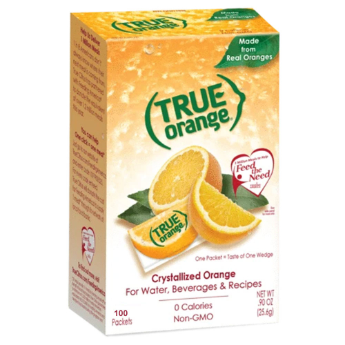 True Orange Water Flavoring Packet - Box of 100